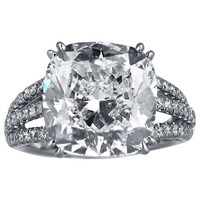 8.03 Carat Cushion Cut Diamond Ring