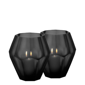 Eichholtz Okhto Candle Holder -Black (set of 2)