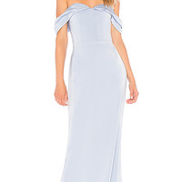 Lovers + Friends Hadid Gown in Baby Blue | REVOLVE