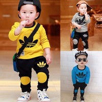 2017 Children Boys Clothes set Sports Suits Boys Long-sleeved kid infant toddler clothes set Summer roup bebe children Clothes