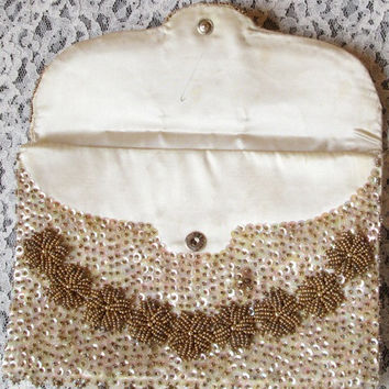 Walborg Beaded Clutch - Vintage 1950s