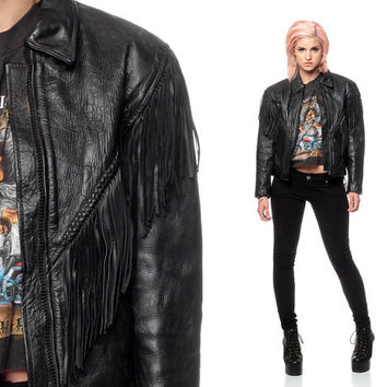 Shop 80s Black Leather Jacket on Wanelo