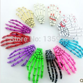 Halloween Skeleton Hand Bone Hair Clip Hairclip Girl's Hair Accessories