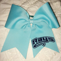 Aqua Stingray Allstar cheer bow