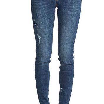 Dex Skinny Lightly Distressed Full Length Jeans