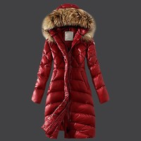 Real Raccoon Fur 2017 Ladies Long Winter Coat Women Ultra Parka Jacket Down Womens Hooded Parka Female Puffer Coats and Jackets