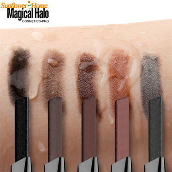 Newly Design 1pc Waterproof Cosmetics Makeup Double Automatic Rotation Eyebrow Eyeliner Pencil Brush Tool 160830