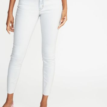 Mid-Rise Raw-Edge Rockstar Ankle Jeans for Women | Old Navy
