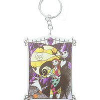The Nightmare Before Christmas Stained Glass Key Chain