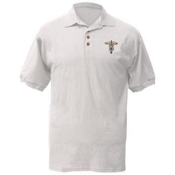 Dentist Caduceus Patch Logo Polo T-Shirt