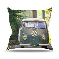 "Robin Dickinson ""Peace Love Nature"" Forest Outdoor Throw Pillow"