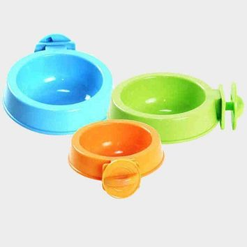 Durable Dog Bowl Pet Feeding Tool Hanging Bowl Safety Ecological Protection Natural Plant Resin Cat dog Stay Hydrated Bowl Dish