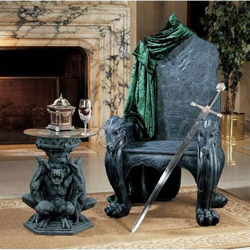 Celtic Dragon Throne Chair