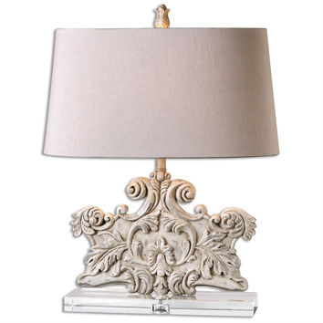 Schiavoni Ivory Stone Table Lamp