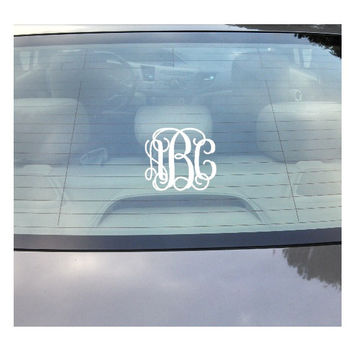 5 Inch Monogram Decal, Custom Vinyl Decal, Monogram Car Sticker, Laptop Monogram Decal, Wall Monogram
