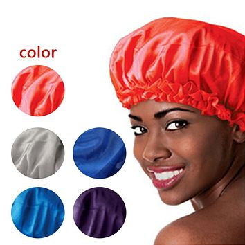 5 Colors Satin Sleeping Bonnet Cap to Protect Hair from Damage