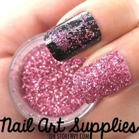 nailartsupplies | Classic Pink - Bright Pink Raw Fine Nail Glitter Mix 3.5 Grams | Online Store Powered by Storenvy