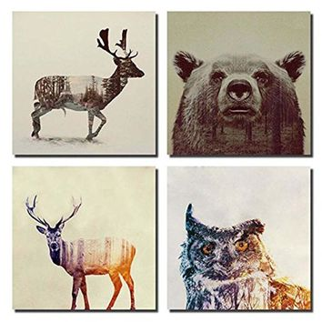 Watercolor Nordic Animal Lion Bear Panda  Art Prints Poster Hipster Wall Picture Canvas Painting Kids Room Home Decor