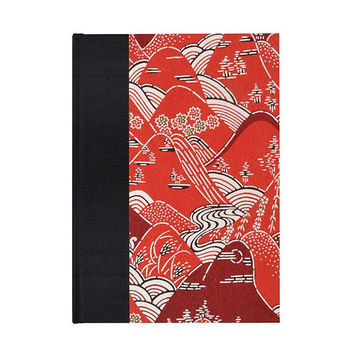 Graph Paper Sketchbook  Red Mountains