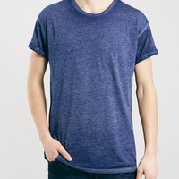Navy Double Dye T-Shirt - Topman