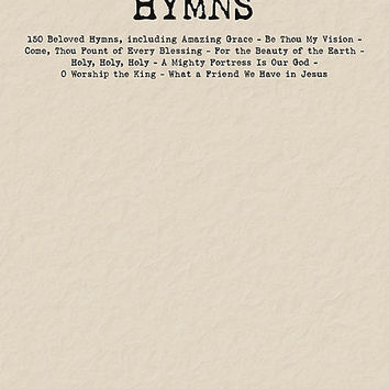 Hymns Budget Book - Piano/Vocal/Guitar Songbook