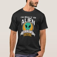 Alien Halloween Costume This Is Just My Costume T-Shirt