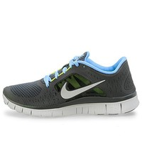Nike Free Run+3 Womens Running Shoes Dark Grey/Reflective Silver-Pure Platinum-Pear 510643-004, 6
