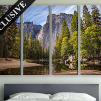 Extra Large Wall Art Nature Fine Art Canvas Wall Decor Modern Wall Hanging Fine Art Print on Canvas Mountain Wall Art Poster for Room Décor