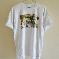 Florida Map Tee Oversized Vintage 90s XL