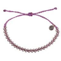 Pura Vida - Silver Track Bead Bracelet | Light Purple