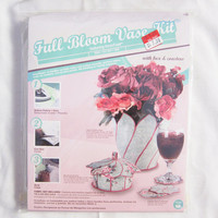 Full Bloom Fabric Vase Kit with Coasters and Box Home Decorating Sewing Project
