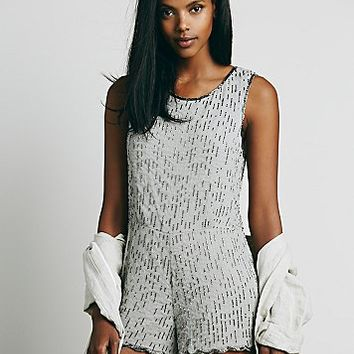 Free People Womens Beaded Beauty Romper