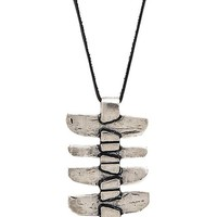 TORCHLIGHT Shield Pendant Necklace in Metallic Silver