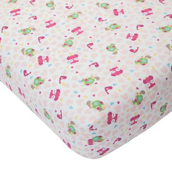 Lambs & Ivy Sprinkles Crib Sheet One Size (Pink/Ivy)