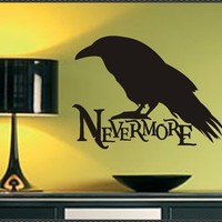 Vinyl Wall Lettering Words Decals Nevermore Raven by WallsThatTalk