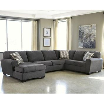 ONETOW Benchcraft Sorenton 3-Piece RAF Sofa Sectional in Fabric