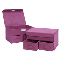 Neu Home Multi-Purpose Drawer Organizer Set Of 2 Magenta Haze