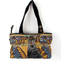 Laurel Burch Purse Cats Beaded Tapestry Embroidered  Handbag Tote Bag