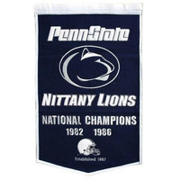 """Penn State Nittany Lions 24""""x36"""" Dynasty Wool Banner"""