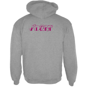 Adopt A Pet For Fur-Ever Love Wild Pink Sport Grey Adult Hoodie