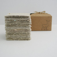 Llama Poo Note Paper. Hand-made, Hand Torn Recycled paper with Llama Poo, 100 sheets