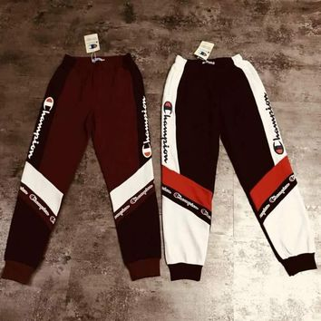 Champion antique sports casual pants couples, men and women alike