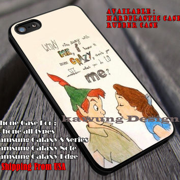 Wendy and Peterpan Fan Art Quote, Disney, Peterpan, Art, Wendy, Fan Art, case/cover for iPhone 4/4s/5/5c/6/6+/6s/6s+ Samsung Galaxy S4/S5/S6/Edge/Edge+ NOTE 3/4/5 #cartoon #animated #disney #peterpan ii