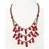 Greenola Style Red Tiered Acai Necklace