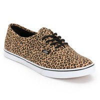 Vans Authentic Lo Pro Leopard Herringbone Shoes