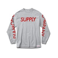 Supply Long Sleeve Tee in Heather