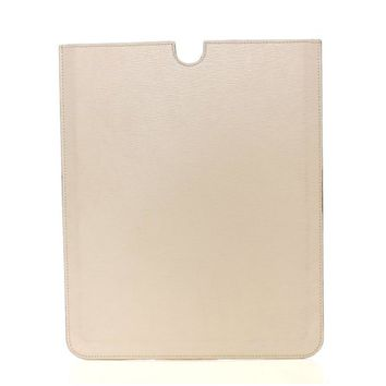 Dolce & Gabbana White Leather IPAD Tablet Case Cover