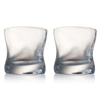 Full-Lead Crystal Double Old Fashioned Glasses (Set of 2)