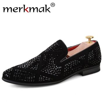2017 Merkmak Luxury Brand Men Loafers Handmade Leather Italian