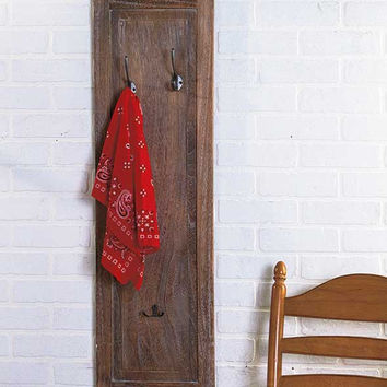 Rack Wall Mounted Hat Coat Tree Rustic Primitive Wood Distressed Large Stand